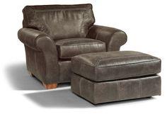 """Vail  Chair & Ottoman    Model N7305-10-08  35""""H x 45""""W x 39""""D"""
