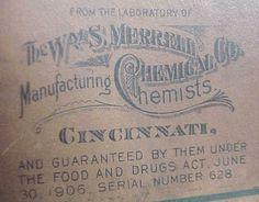 Antique 1906 Echitisia Merrell Chemical Co Cincinnati Oh Medicine Bottle | eBay