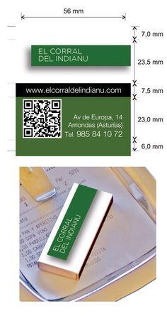 Propuesta Caja de Cerillas para Restaurante El Corral del Indianu en Asturias.
