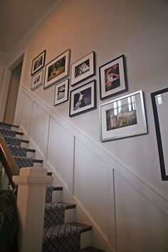 Remodel stairs staircase makeover board and batten 61 new ideas Basement Stairway, Flur Design, Stair Walls, Staircase Makeover, Hallway Designs, Foyer Decorating, Decorating Ideas, Board And Batten, House Stairs