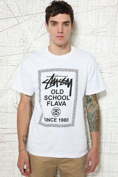 Stussy - Flava - T-shirt ras du cou - Blanc