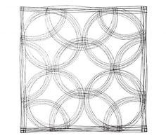 Circles Fali dekoráció 110x110 cm