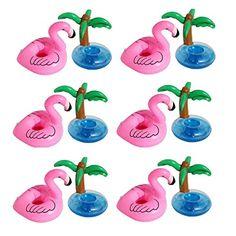 Schon Aufblasbare Insel, Outgeek Aufblasbare Getränke Halter Pool Coasters  Flamingo Palme Luftmatratze Flaschenhalter Mit Schnellen Ventilen