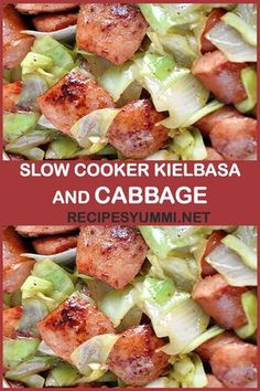 Slow Cooker Kielbasa And Cabbage - Recipe Crockpot Cabbage Recipes, Cabbage Slow Cooker, Slow Cooker Kielbasa, Sausage Crockpot, Crock Pot Cabbage, Crockpot Dishes, Crock Pot Slow Cooker, Slow Cooker Recipes, Cooking Recipes