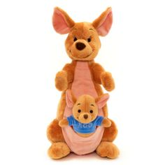 This Kanga soft toy will make an adorable companion for Winnie the Pooh fans. The protective mother from Winnie the Pooh includes embroidered features and a mini pouch with attached Roo soft toy.