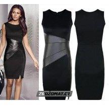 79e1e93daa0b Pouzdrové šaty s koženkovými detaily Amy! Sexy Dresses