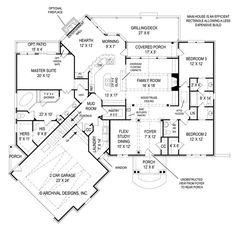 Kinda like this floor plan. First Floor Plan image of Da Diva House Plan: one level Rustic House Plans, Craftsman Style House Plans, Ranch House Plans, Dream House Plans, House Floor Plans, Craftsman Homes, One Level House Plans, Modern Craftsman, The Plan