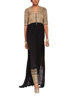 Indian Fashion Designers - Anita Dongre - Contemporary Indian Designer - Jakets - AD-AW14-NEOGEOEM-28A - Alluring Kurta Jacket Set