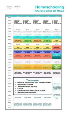 Homeschooling: Itinerario diario