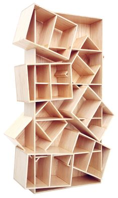 BE MY SHELF by Colectivo da Rainha // this stresses me out to look at it! Interesting, though.