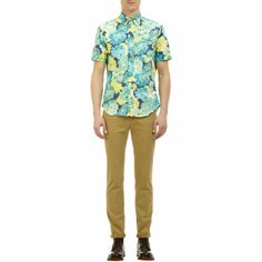 Gitman Vintage Flower-Print Short-sleeve Shirt at Barneys.com