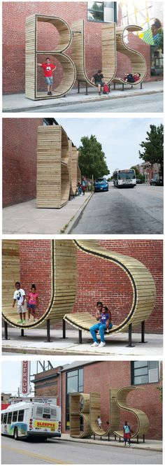 Bus stop by  mmmm and Creative Alliance of Baltimore - Baltimore, US