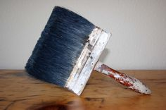 vintage house painter brushes | Vintage Large Paint Brush Wood Handle by TheEclecticInterior