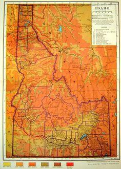 Idaho Map: http://blog.fossil.com/2010/06/vintage-orange/