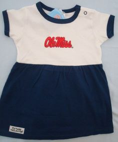 Dress to Impress - Ole Miss Rebel Future Tailgater Dress by DHM Kids, $21.99