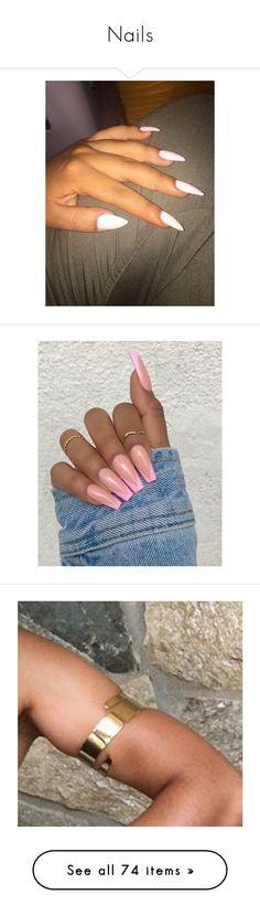 """Nails"" by kingmairi ❤ liked on Polyvore featuring beauty products, nail care, nails, pictures, makeup, nail polish, beauty, shiny nail polish, pink and pics"