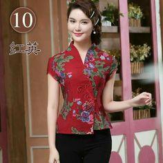 Cute Blouses, Shirt Blouses, Blouses For Women, Blouse Batik, Batik Dress, Chinese Shirt, Batik Fashion, Cheongsam Dress, African Fashion Dresses