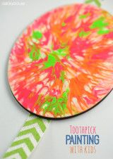 Cool Weekend craft project for kids - toothpick painting DIY