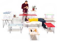 Patas para adaptar a cualquier tablero y construir una mesa estilo propio, Tick clip