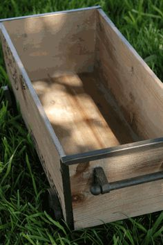 Wooden Shipping Crate on Wheels save-on-crafts.com
