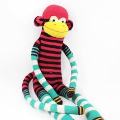 Make your own sock monkey!  Detailed tutorial!  Sock monkeys are a great hand made gift to stuff stockings or fill Easter Baskets!