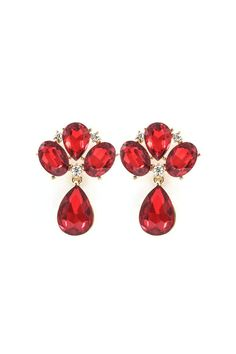 Lizzy Earrings in Ruby