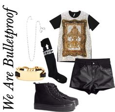 """Outfit inspired by: Jungkook in BTS """"We Are Bulletproof"""" MV."""