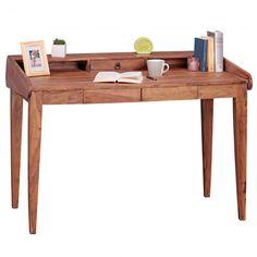 WOHNLING Schreibtisch Massiv-Holz Sheesham Sekretär 117 cm breit 3 Schubladen Design Ablage Büro-Tis Jetzt bestellen unter: https://moebel.ladendirekt.de/buero/tische/schreibtische/?uid=bc15b75d-427f-5759-96df-e7c6b1cdd9b6&utm_source=pinterest&utm_medium=pin&utm_campaign=boards #möbel #kinderzimmer #buero #einrichtung #baby #tische #schreibtische