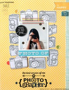 #papercraft #scrapbook #layout This is so me!