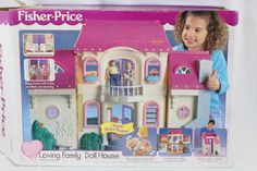Fisher Price Loving Family Doll House 4649 Complete with Box and Extras  #FisherPrice
