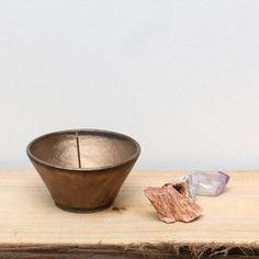 Ume Handmade Ceramic Incense Bowl Metallic Gold