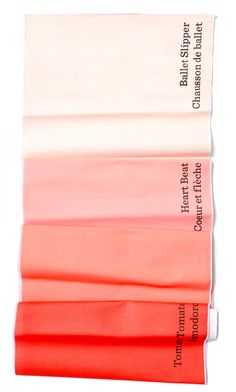 Paint Chip Table Runner--the Pantone chips are ever-so-popular in modern design. I have a mug in the hue of yellow, and might possibly need this table runner in shades of rose...