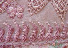 I ❤ crazy quilting . . . Pink Block Seam 7- by Connie Eyberg Originals