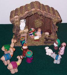 Dominica's Clay Nativity Scene by SheepGuardingLlama, via Flickr