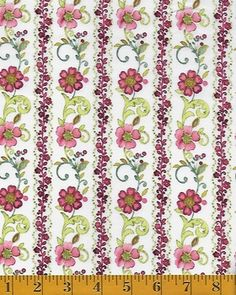 In The Beginning Fabrics Marianna - Floral Stripe - Pink