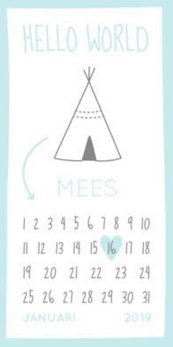 Geboortekaartje datum jongen
