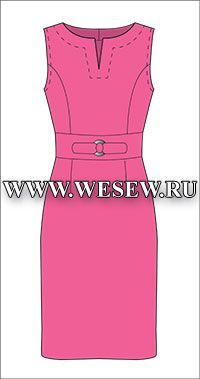 Free PDF Pattern a shift dress with belt!! Translates to English, must join to get the pattern.