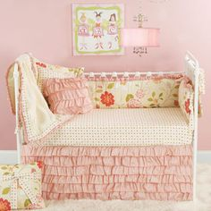 ruffle bed skirt.  Usually I hate bed skirts, but this one is actually kind of cute!