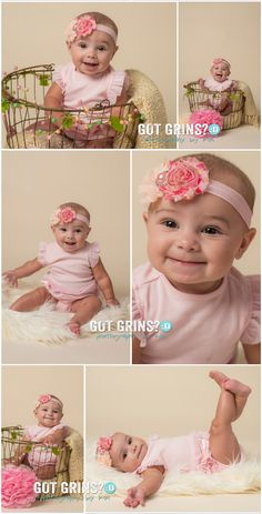 cutest little 5 month old baby girl - portrait session in Lakeland, FL by Got Grins? Photography