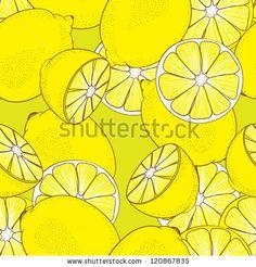 seamless pattern from yellow juicy lemons by Chevnenko, via Shutterstock