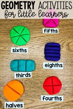 Playdough fractions can be a really fun activity in the classroom! This post explains how this can be done along with some other fun fraction activities! Teaching Fractions, Math Fractions, Teaching Math, Dividing Fractions, Maths, Fractions For Kids, Equivalent Fractions, Teaching Activities, Hands On Activities