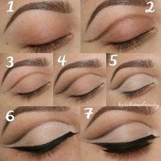 How to make cut crease eye makeup #makeup #tutorial #stepbystep