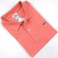 Men's Lacoste Polo  Short Sleeve Shirt Light Orange    #CheapLacoste #CheapLacosteLongSleeve #Polos #LacostePolos #LacostePoloShirts #StylishLacosteShirts #LacosteForCheap