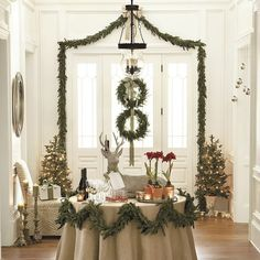 Are you looking for inspiration for christmas inspiration?Check this out for cool Christmas inspiration.May the season bring you peace. Decoration Christmas, Noel Christmas, Rustic Christmas, All Things Christmas, Winter Christmas, Christmas Crafts, Christmas Wedding, Christmas Entryway, Garland Decoration