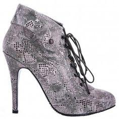 9100 Presaj Grej Leather Shoes, Booty, Ankle, Heels, Fashion, Leather Dress Shoes, Heel, Moda, Leather Boots