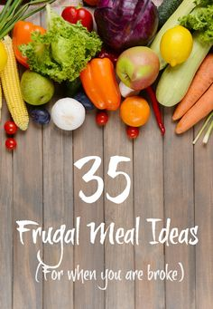 Here are 35 frugal meal ideas to help manage your food budget. It helps you know what to stock your pantry with to make ends meet and stretch your food for the week.