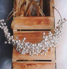 """Купить Свадебное украшение для волос """"Жемчужный ободок"""" - ободок для волос, свадебные аксессуары, свадебный ободок"""