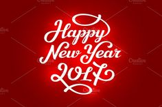 New year 2017 lettering cards @photoshoplady