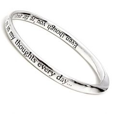 Rue B You Are Capable Of Amazing Things Inspiring Silver Quote Bangle JBOOYtSQY