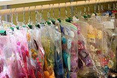 Ziplock bags, binder clips & shower curtain rings